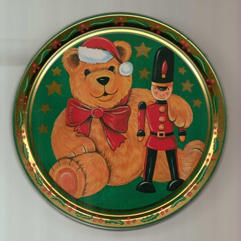 Christmas Cookie / Biscuit Tin - Advertising