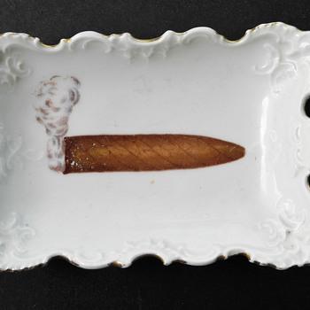 Victorian ? china Cigar Ashtray.