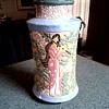 """Three Maidens Vase""/ Raised Enamel Asian Figures and Floral Designs/ Unknown Maker and Age"