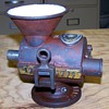 1800S PORCELAIN LINED CAST IRON UBRIG #10 GERMAN MEAT GRINDER