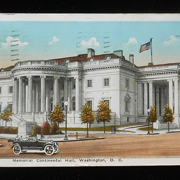 Memorial Continental Hall, Washington D.C. - Postcards