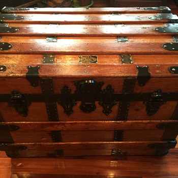 Headley & Farmer Trunk, New York Established 1842 (Trunk is early 1900s) - Furniture
