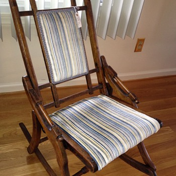 Folding rocking chair  - Furniture