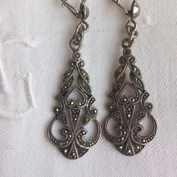 Art Nouveau Silver and marcasite earrings