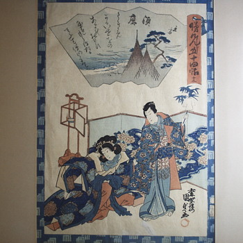 Antique Japanese Watercolours on paper, 19 Century