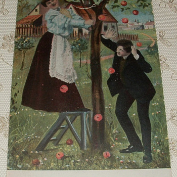 "1890's ""Apple Picking Couple"" Postcards - Postcards"