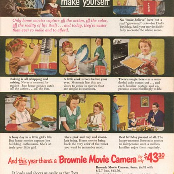 1952 - Kodak Movie Cameras Advertisement - Advertising