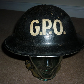 British WW11 General Post Office helmet - Military and Wartime