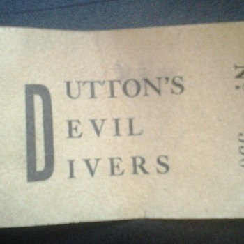 Dutton's Devil Divers ticket