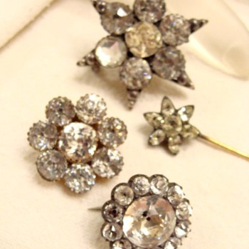 Antique Black Dot Brooches