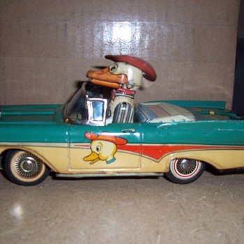Vintage Friction Duck In a Car Toy- Quack!  - Toys
