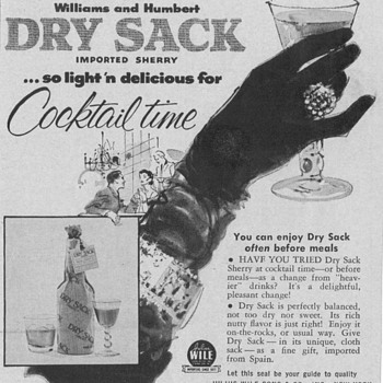 1955 Dry Sack Sherry Advertisement - Advertising