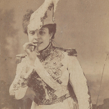French Actress Anna Judic CDV by Gaston & Mathieu of Paris, France