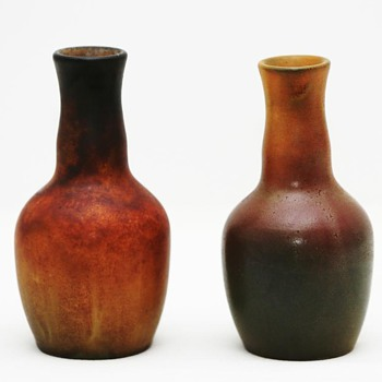 Vases and Bowl, Ipsen (Denmark), 1903 and ca. 1920 - Art Pottery