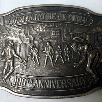 Gunfight At The O.K. Corral Belt Buckle
