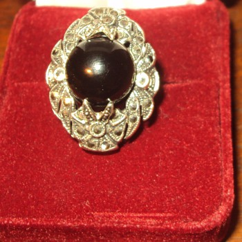 Art deco Marcasite Sterling Ring - Fine Jewelry