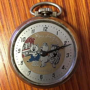 Three Little Pigs Prototype Pocket Watch - Pocket Watches