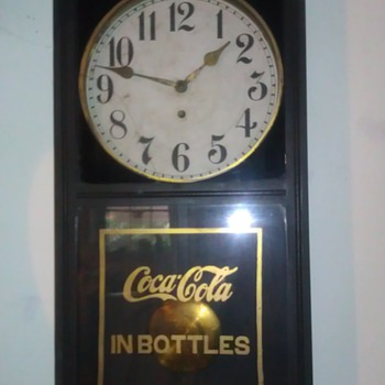 Wood Coca Cola Wall Clock