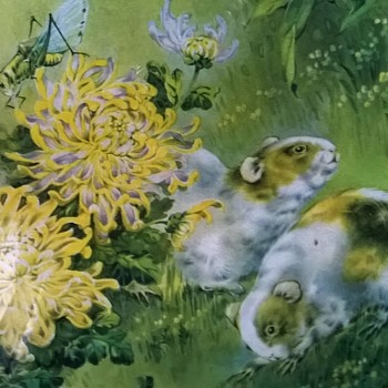 1950s (?) Print, Critters In The Garden Thrift Shop Find $2.00 - Visual Art