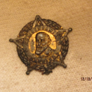 GAR Medal? Gen. Benjamin Harrison, or Presidential Button