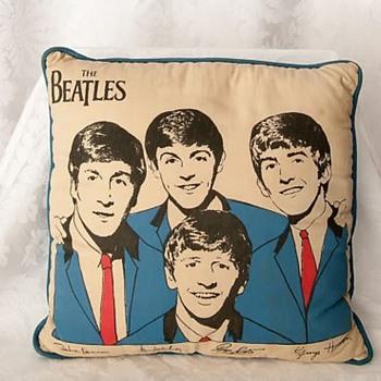 Beatles Pillow-1964 - Music Memorabilia