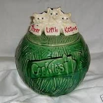 """Three Little Kittens"" Cookie Jar - Pottery"
