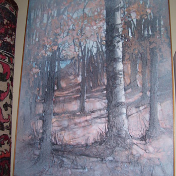 ROBERT MICHMENHAUZEN OIL PAINTING ON BOARD - Arts and Crafts