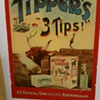 "Original 1910 Tipper's ""3 Tips"" Stone Lithograph Poster"