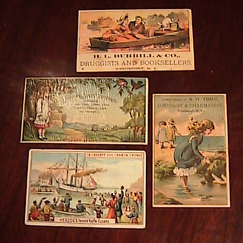 Victorian Advertising Trade Cards - Todays Estate Sale Finds! - Cards