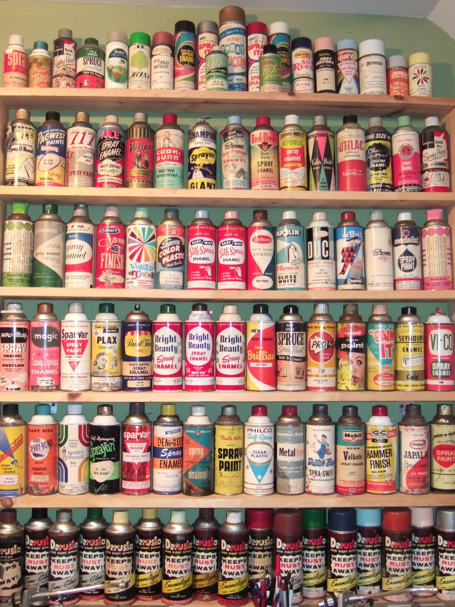 Vintage spray paint cans collectors weekly Paint with spray can