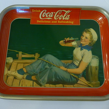 "1940 ""Sailor Girl"" Coca-Cola Tray - Coca-Cola"