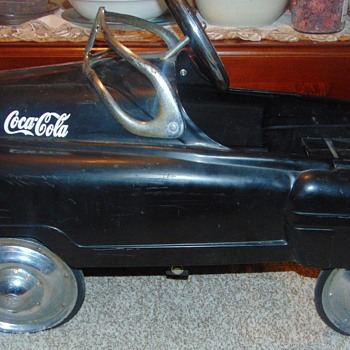 "Mystery Coca-Cola Pedal Car with ""R"" Stamped Hubs!"
