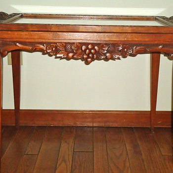 Uncle's Hand Carved Table - Furniture
