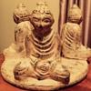 Old Buddha candle holder