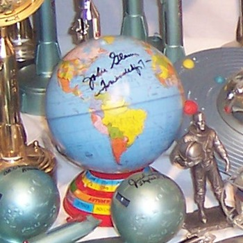 Earth Globe Bank Commemorating John Glenn: Signed