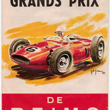 1962 - Grand Prix de Reims Race Guide - Paper