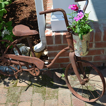 Old Bicycles Never Die - They Find New Life in the Garden! - Sporting Goods