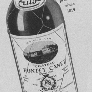 1954 Cruse Wine Advertisement - Advertising