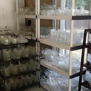 "HUGE collection of Anchor Hocking EAPC ""Star of David"" - Glassware"