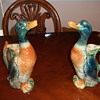 Two Majolica St Clement Duck Pitchers
