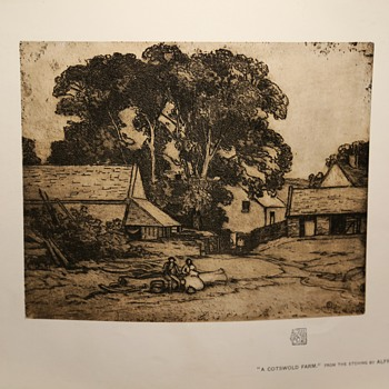 A Cotswold Farm by Alfred East - another one from International Studio - Visual Art