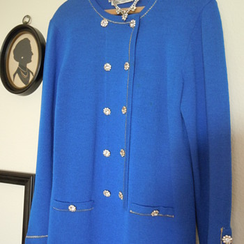 Don Sayres Vintage Dress, 18 rhinestone buttons - Womens Clothing