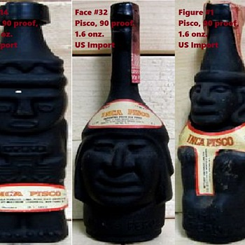 Inca Pisco Liquor bottles.