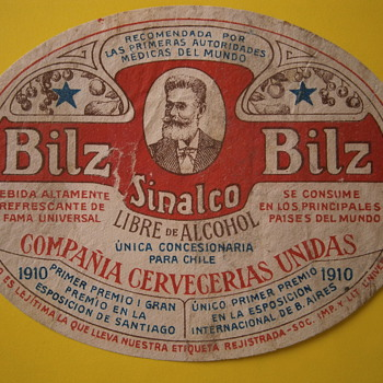 An old soda: Bilz - Advertising