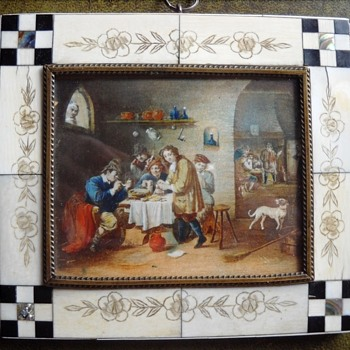 Miniature on ivory, tavern scene - Visual Art