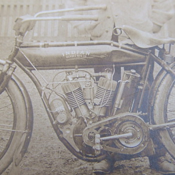 Early Indian Motorcycle photograph