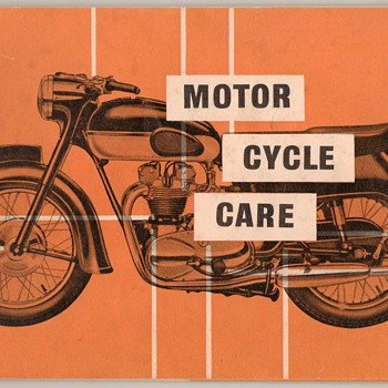 1960 Castrol Oil Motor Cycle Care Guide - Paper