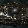 Silver plated, velvet-lined spelter box - no marks