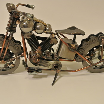 1939 Harley Davidson Knuckle by Metal Artist Travis Burford - Motorcycles