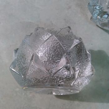 ORREFORS CRYSTAL ARTICHOKES VOTIVES - Art Glass